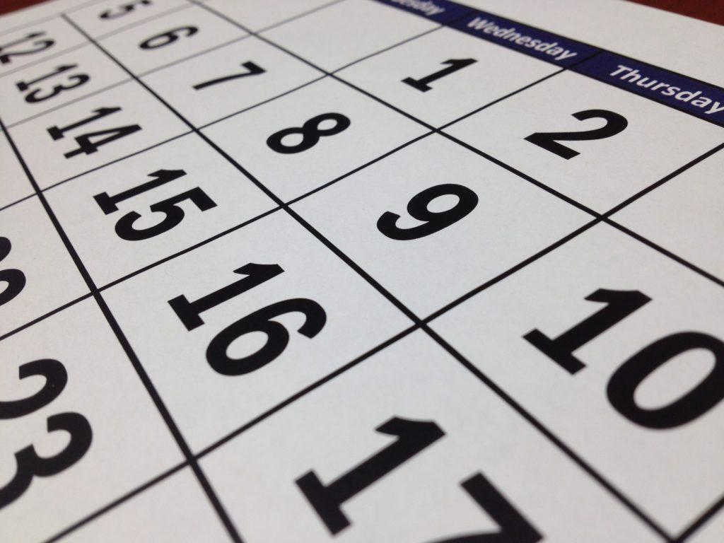 agenda black calendar